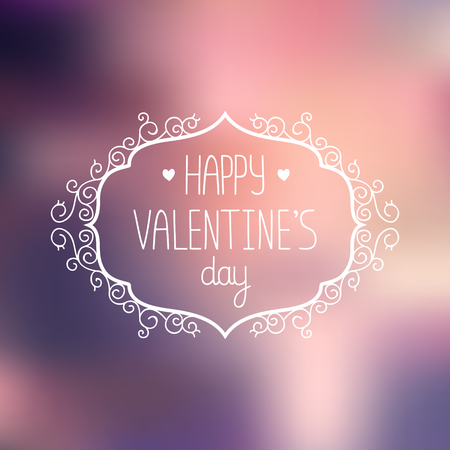 Vector valentines day greeting card on gradient background with love Vector