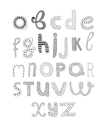 Vector hand drawn alphabet letter b doodle letters set isolated vector hand drawn alphabet isolated on white background doodle letters collection vector altavistaventures Images