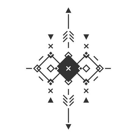 aztec art: Vector Tribal elements, ethnic collection, aztec stile, tribal art, tribal design  isolated on white background Illustration