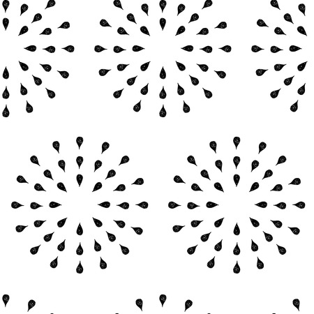fash: Sunburst background, ink hand drawn pattern, seamless doodle background, vintage vector pattern, abstract illustration Illustration