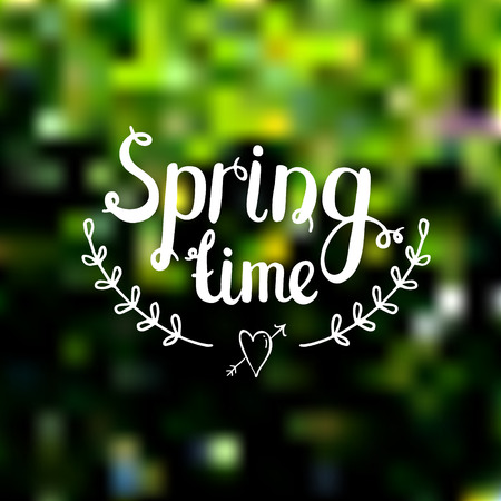 spring time: Spring time on blurred background