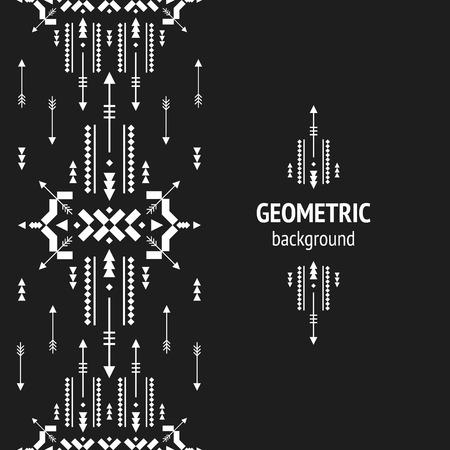 aztec art: Geometric background, Tribal seamless pattern