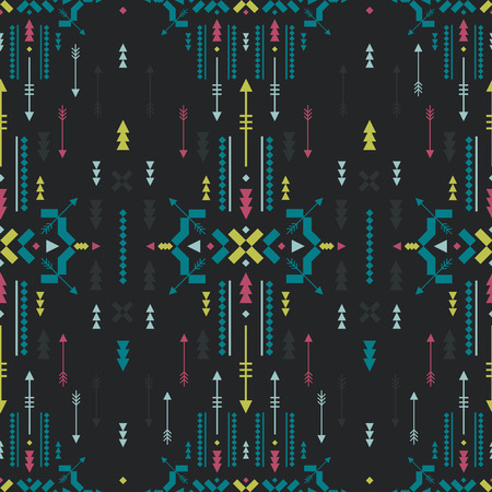 Vector Geometric background, Tribal seamless pattern, ethnic collection, aztec stile 일러스트