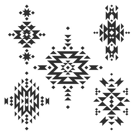 american native: Vector Tribal elements, ethnic collection Illustration