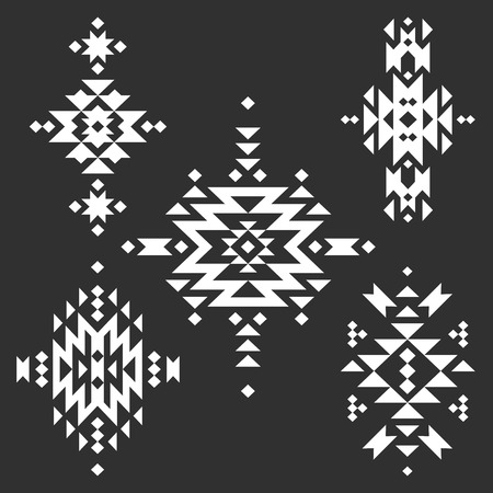 black american: Vector Tribal elements, ethnic collection Illustration