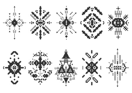 Vector Tribal elements, ethnic collection Vectores