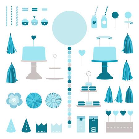 tissue paper: Happy birthday collection Illustration