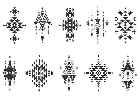 abstract tattoo: Vector Tribal elements, ethnic collection Illustration