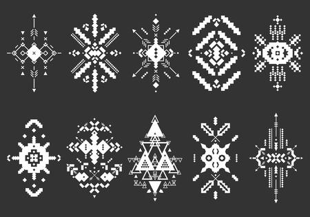 tribales: Vector elementos tribales, colección étnica Vectores