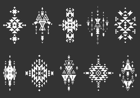 tribal: Vector Tribal elements, ethnic collection Illustration