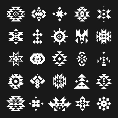 american culture: Vector abstract geometric elements