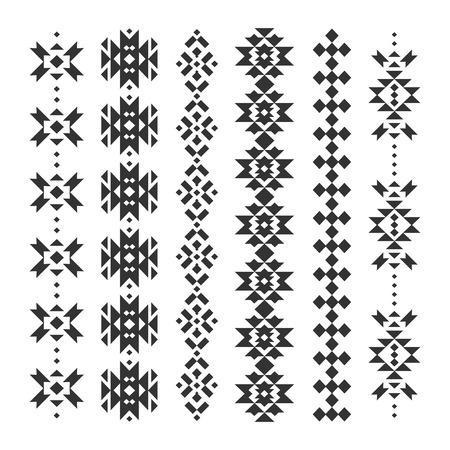 navajo tattoo designs. Vector Abstract Geometric Elements Navajo Tattoo Designs