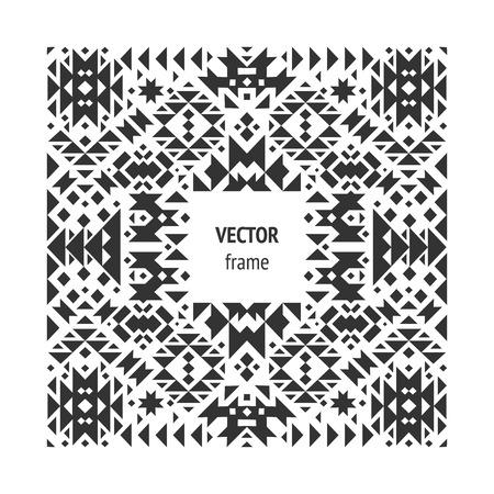 illuminati: Vector abstract geometric frame Illustration