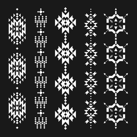 ethnic tattoo: Vector abstract geometric elements