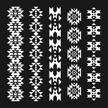 traditional tattoo: Vector abstract geometric elements