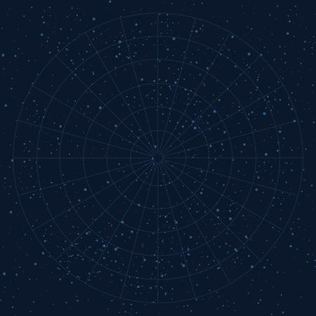 空のマップの背景、星、プラネタリウム、宇宙、天文学をベクトルします。