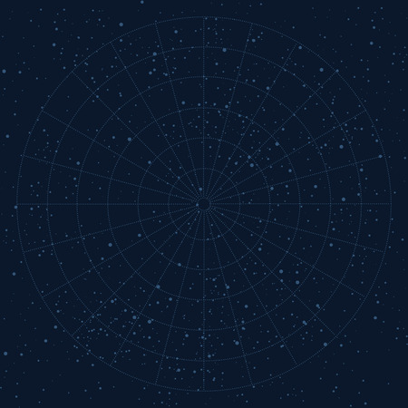 Vector sky map background, stars, planetarium, universe, astronomy Illustration