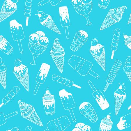 Vector ice cream background