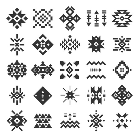 Vector abstract geometric elements, pattern, ethnic collection