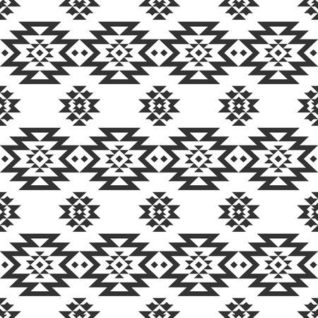 tribales: Vector geom�trica sin patr�n, fondo tribal, �tnica colecci�n, estilo navajo en el fondo blanco