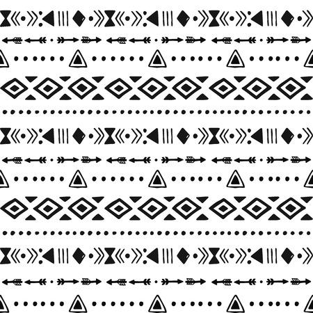 tribales: Fondo tribal dibujado a mano, ética, arte, modelo de la raya, de la tinta