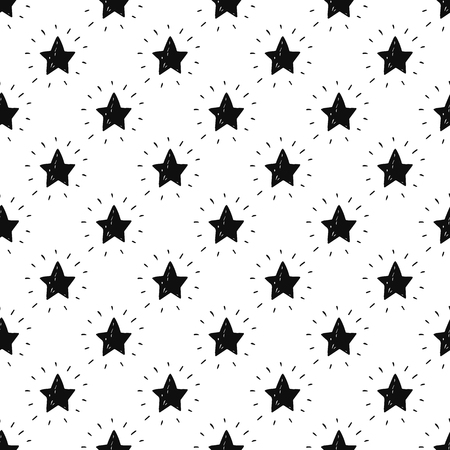 seamless space background with stars. Stars background, hand drawn illustration