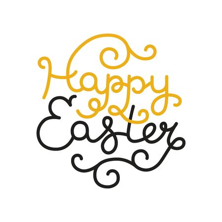 easter card: Happy easter card with holiday lettering. Vector easter background,