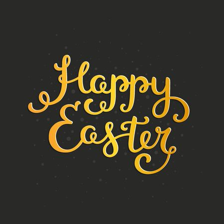 pascuas navideÑas: Happy easter card with holiday lettering. Vector easter background,