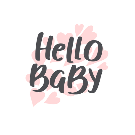 Baby shower girl and boy vector text hello baby hand drawn baby shower girl and boy vector text hello baby hand drawn font for filmwisefo