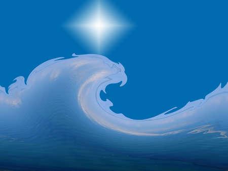 Fairy wave - illustration Stock Illustration - 920705