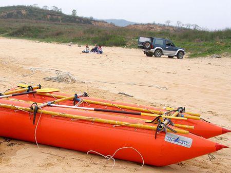 Summer recreation, catamaran        photo