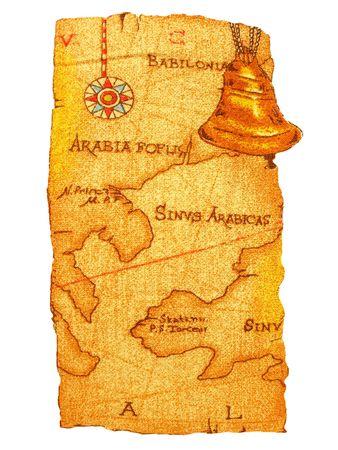 rundown: Old map Stock Photo