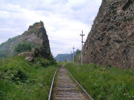 stock vista: Circum-Baikal Road, the historical part of Trans-Siberian railway