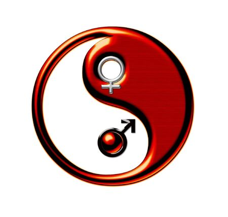 Yin-Yang, symbol of harmony of male and female beginnings photo