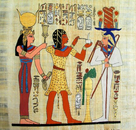 egyptian: Old papyrus - pharaoh