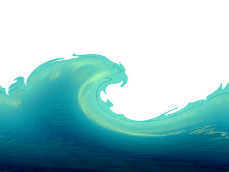 rippled: Green wave isolated on white