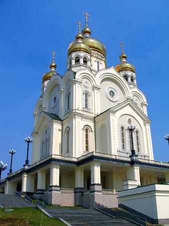 righteous: The orthodox church, Khabarovsk, Russia Stock Photo