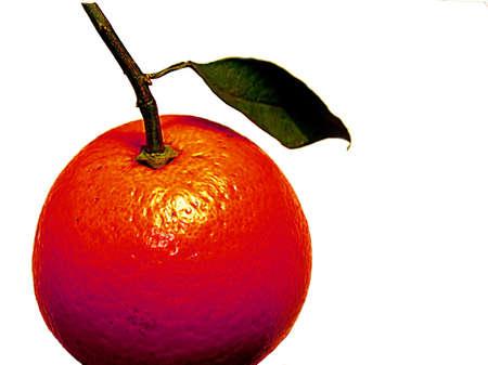 mandarins: Red orange isolated on white
