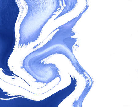 digitally generated: Blue ornament on white