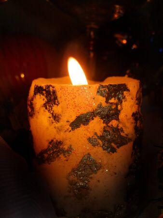 alight: Alight candle Stock Photo