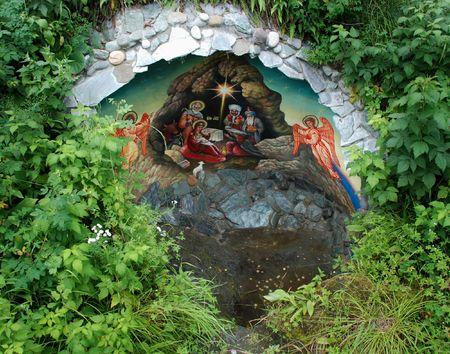 chemal: Holy source, churchyard, Chemal, Altai, Russia