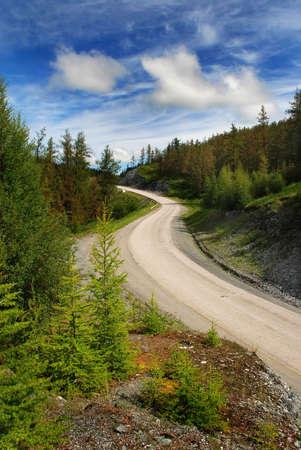 to altai: Pass, mountain road, Altai, Russia