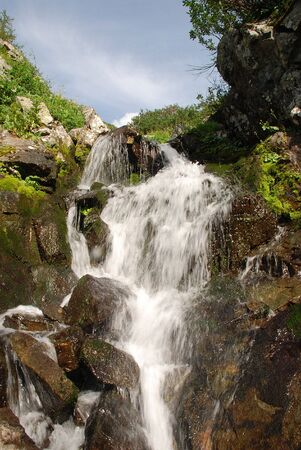 trickles: Waterfall, Altai, Russia
