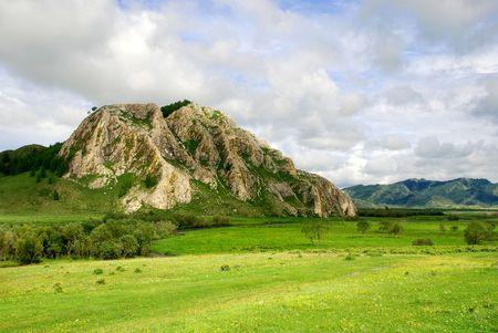 cusp: Saint mountain, Altai, Russia, summer landscape
