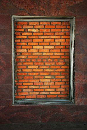 Brick window photo