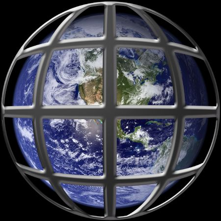 Earth on cage photo