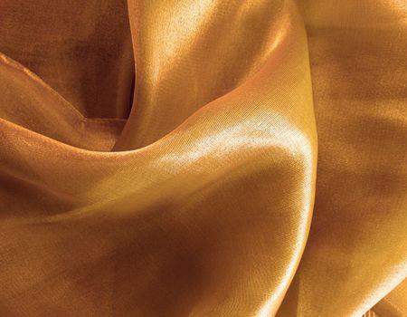 gathers: Golden seta - texture  Archivio Fotografico