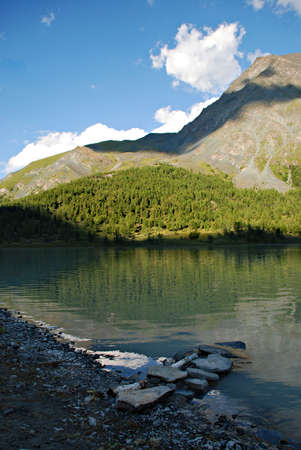 Mountain landscape, lake Ak-kem, Altai Stock Photo - 2908348