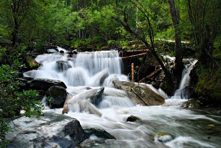 trickles: Waterfall, mountain river, Altai, Russia