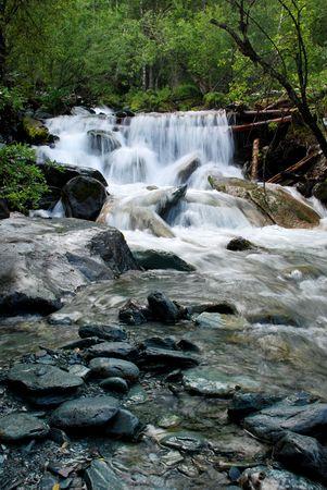 murmur: Waterfall, mountain river, Altai, Russia